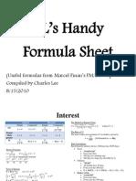 Formulas for SOA/CAS Exam FM/2