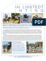 Jordan Linstedt Eventing April Newsletter