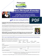 Tenants Pac Invite for Andrea Stewart-Cousins, April 12