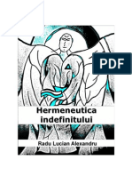 Hermeneutica Indefinitului - Radu Lucian Alexandru