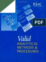 Valid Analytical Methods & Procedures