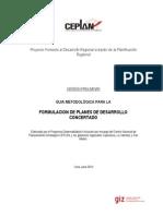 Metodologia Formulacion de PDC Doc Preliminar