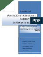 Tipos de Contrato Definiciones Generales