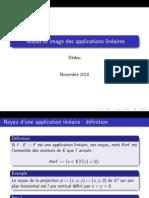 Noyau Et Image Des Applications Lineaires