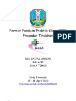 Format Panduan Praktik Klinis Prosedur Tindakan RS Saiful Anwar Malang Jawa Timur