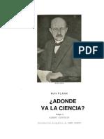 Planck, Max - A Dónde Va La Ciencia