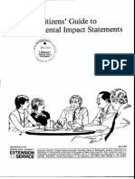 Citizen Guide to Enviromental  Impact Statements