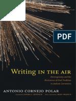 Writing in the Air by Antonio Cornejo Polar