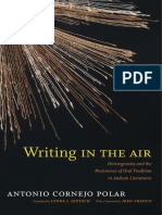 Writing in the Air by Antonio Cornejo Polar