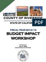 Budget Workshop Documents