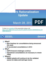 USPS Network Rationalization Update Mar 2013
