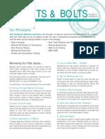 NHML Newsletter-030101 Blurbs
