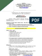 Tematica Licenta Drept Vara 2013