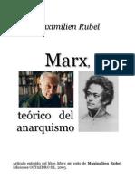 RUBEL Marx Teorico Del Anarquismo