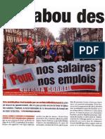 Nouvelle vie ouvrière - Le tabou des salaires - 27/2/2009