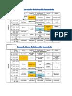 Cronograma de Examenes I Unidad - I Bimestre - 2013