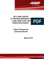 2012 Oregon LTC Caregiving Report