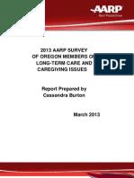 2012 Oregon LTC Caregiving Report