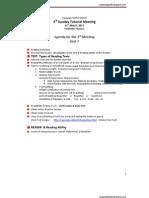 31st March Agenda 2003