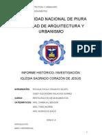 INFORME HISTÓRICO IGLESIA SAGRADO CORAZÓN DE JESÚS DE LOBITOS TALARA