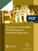 Escuela y Comunidad. Inclusión educativa