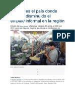 El Perú es el país donde más ha disminuido el empleo informal en la región