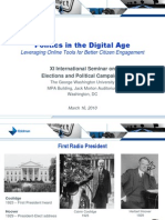 Politics in the Digital Age David Almacy
