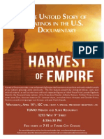 """""""Harvest of Empire -- The Untold Story of Latinos in American"""" === movie, reception, discussion, fundraiser"""