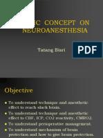 Basic Concept on Neuroanesthesia