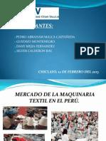 Exportacion de Maquinaria Textil en el Perú 2009