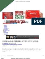 BISEXUALIDAD_ TERCERA OPCIÓN SIN UN LUGAR _ Sin Embargo