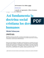 Así fundamenta la doctrina social cristiana los derechos humanos-Michel Schooyans (NOTAS)