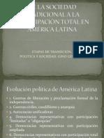 DE LA SOCIEDAD TRADICIONAL A LA PARTICIPACIÓN TOTAL
