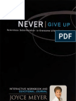 Joyce Meyer Never Give Up