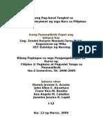 Isang Pag-Aaral Tungkol sa Underemployment ng mga Nars sa Pilipinas