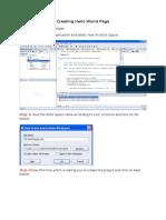 1.Creating Hello World Page.doc