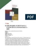 HABILIDADES AUDITIVAS E A CONSCIÊNCIA FONOLÓGICA