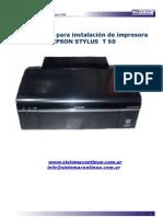Instructivo de Instalacion Epson Stylus t50 Con Istema Continuo de Tinta