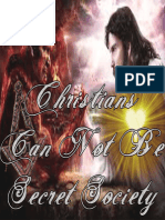 Christians Can Not Be Secret Society