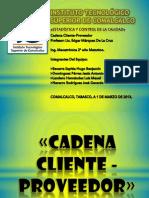 Exposicion Cadena Cliente-proveedor