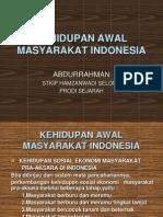 Kehidupan Awal Masyarakat di Indonesia