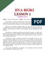 Kriya Reiki = Lesson 1
