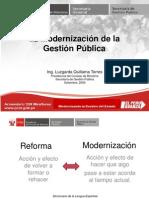 La Modernización de la Gestión PúblicaLa Modernización de la Gestión Pública