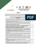 ANEXO 1 Lista de Chequeo de Documentos