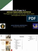 Materi Kuliah Ada II-minggu 6-Pemrograman Sbg Metoda(1)