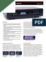 ADX Audio Matrix Info Sheet