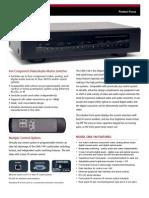 CMX Video Matrix Info Sheet