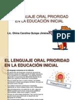 EL LENGUAJE ORAL PRIORIDAD EN LA EDUCACIÓN INICIAL
