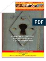 Libro No. 398. A Puerta Cerrada. Sartre, Jean Paul. Colección Emancipación Obrera. Marzo 30 de 2013