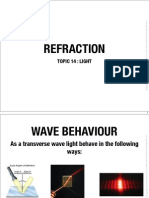 14 REFRACTION OF LIGHT